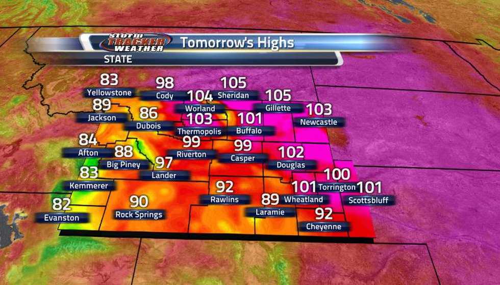 Record high temperatures are possible going into tomorrow as much of the state can expect to...