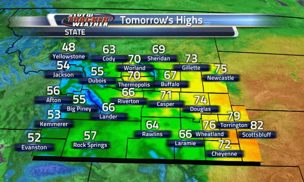 Tomorrow, temperatures will be back in the 60s and 70s.