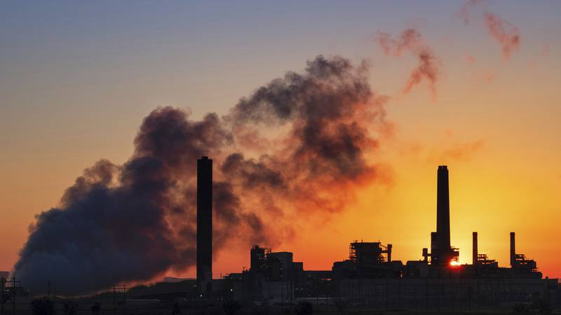 FILE - In this July 27, 2018, file photo, the Dave Johnston coal-fired power plant is...