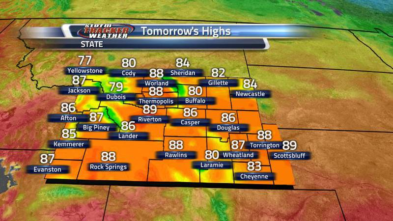 Cooler temperatures tomorrow will be welcomed as that cold front moves down. Temperatures look...