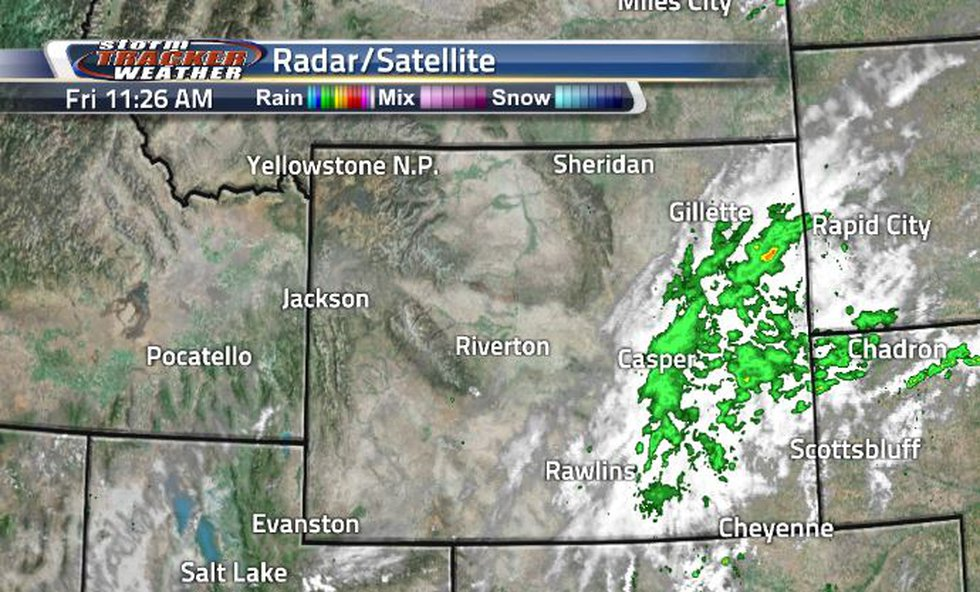Rain showers have been occurring all morning. They started in the center of the state and are...