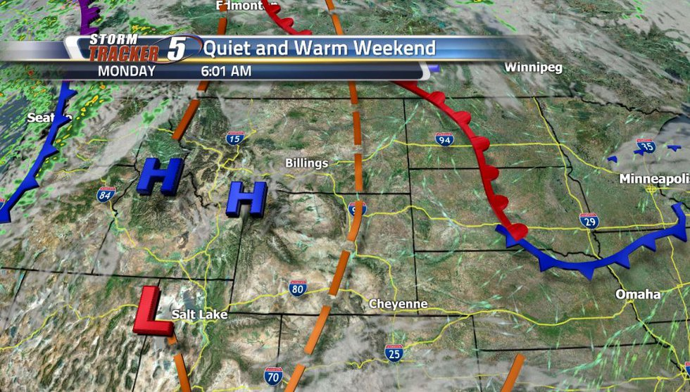 A cold front over the north pacific will be making its way east and it  will bring us cooler...