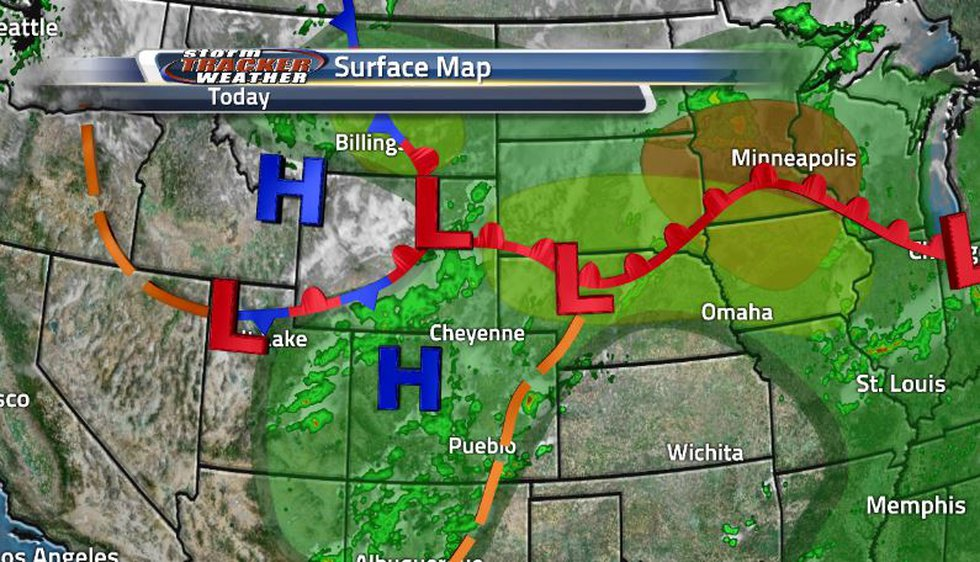 This indecisive front has now decided to move south again bringing more showers and storms into...