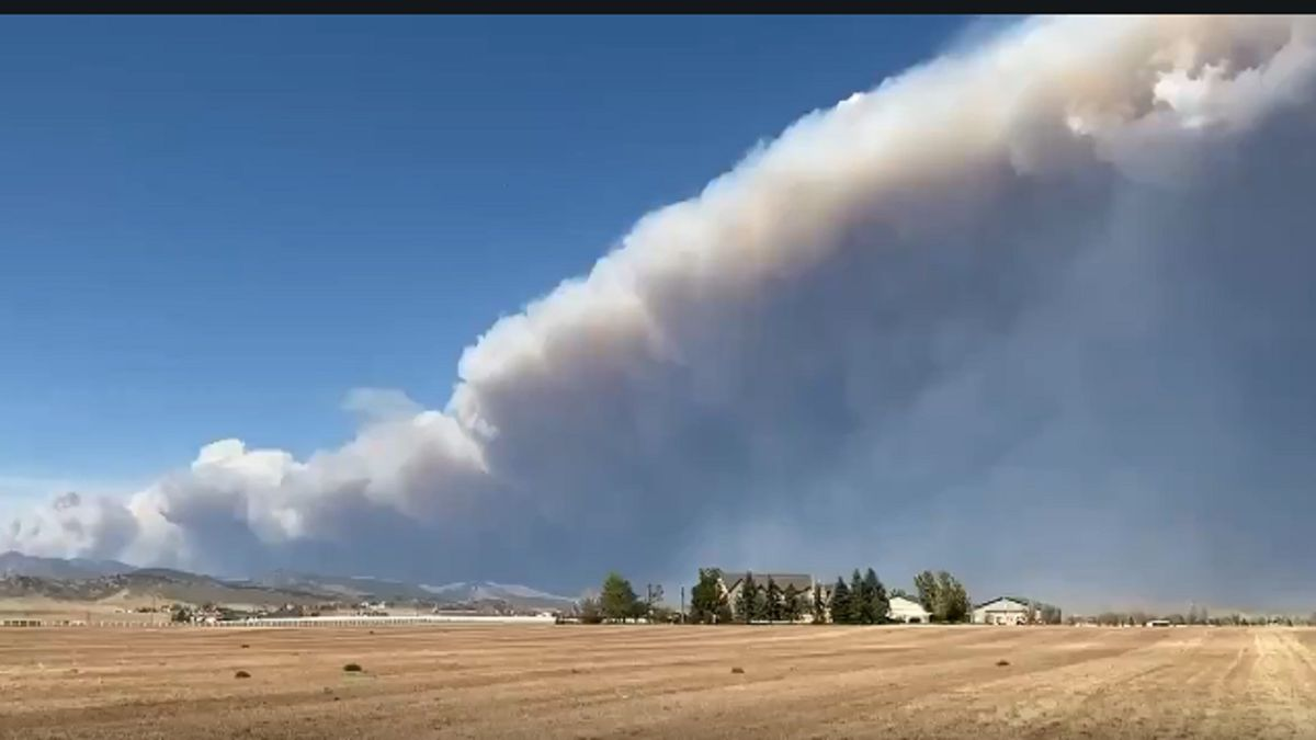 A view of the Cameron Peak Fire on Oct. 14, 2020.