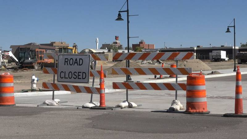 Midwest Avenue is closed in downtown Casper as they work to improve the infrastructure