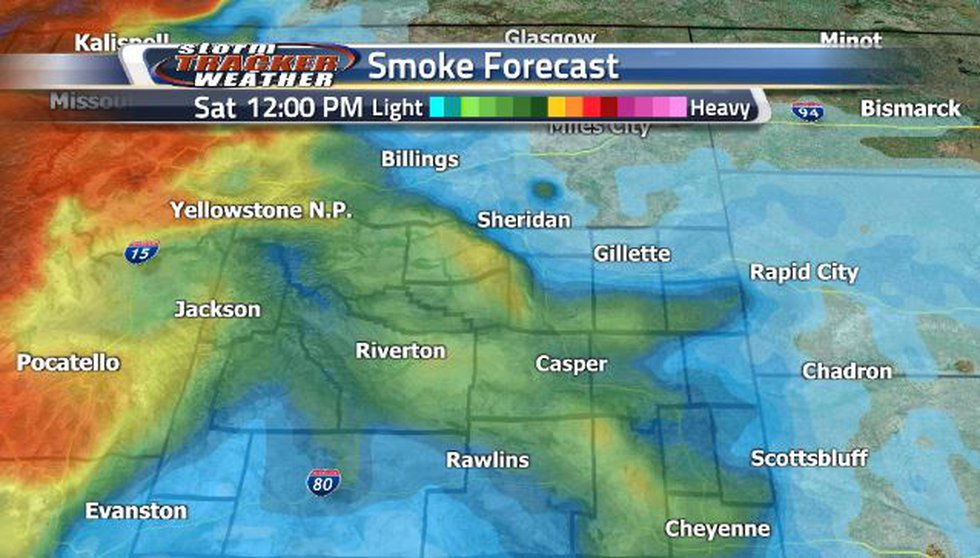 By Saturday afternoon, the moderately heavy smoke will return to the southeast corner.