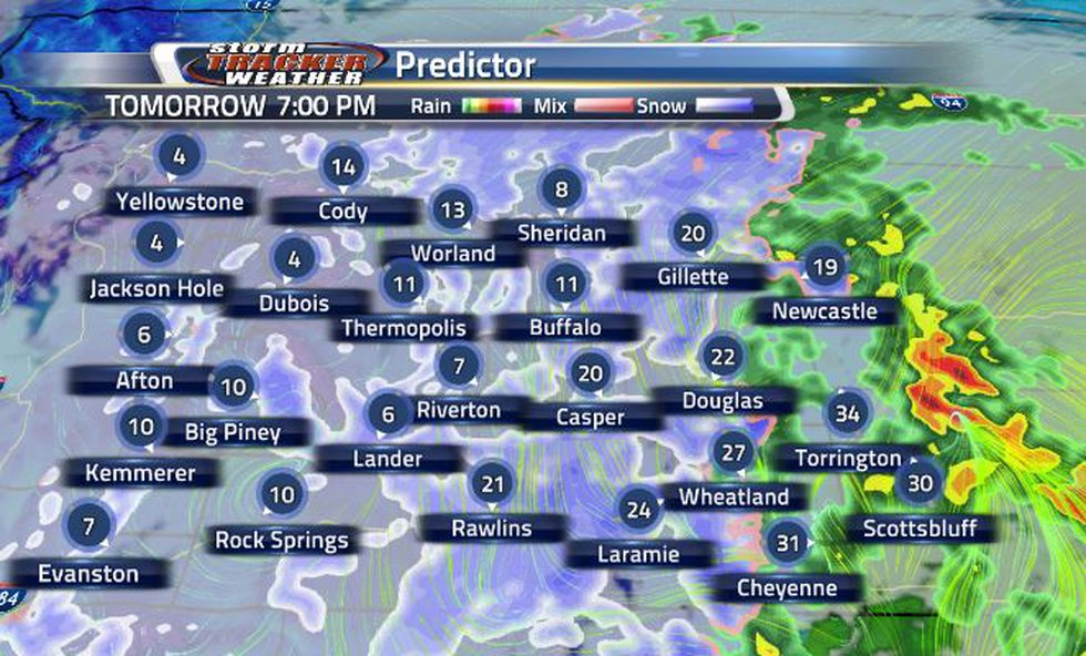 By tomorrow evening, there is a chance that the southeastern corner of Wyoming will see some...
