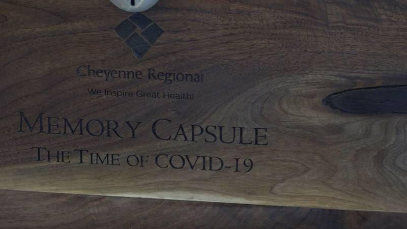 The outside of the CRMC memory capsule Thursday morning.