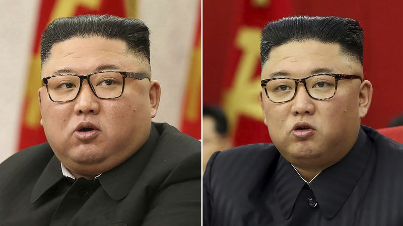 This combination of file photos provided by the North Korean government shows North Korean...