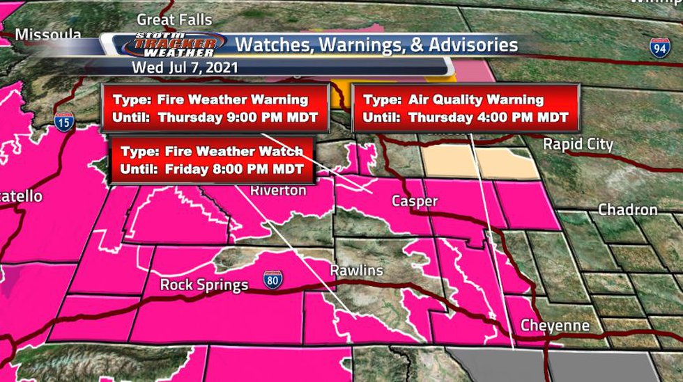 Dry conditions and increasing temperatures are increasing the chances for fire weather and...