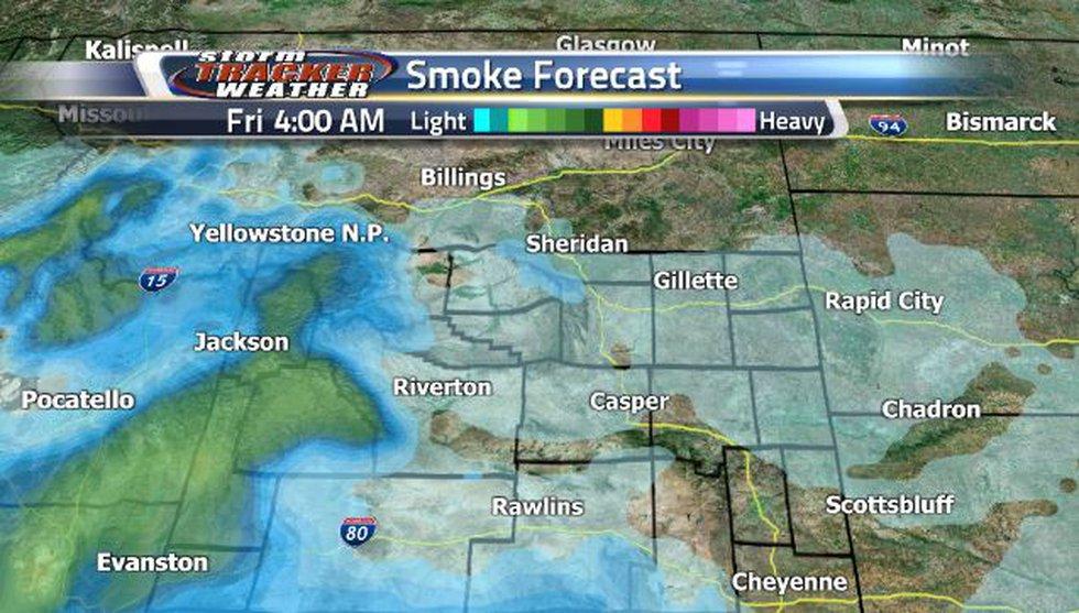 Heavier smoke will be seen along the western border Friday morning.