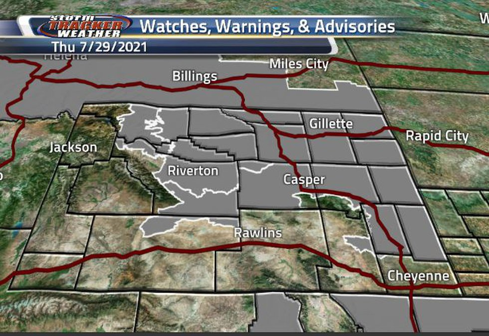 There are three different Air Quality Warnings. The northeast corner is in effect until this...