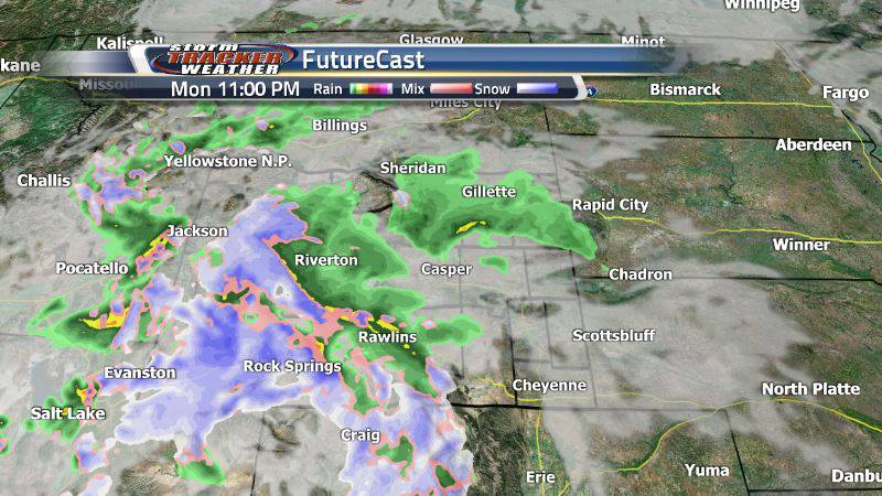 Tomorrow evening, expect an increase in rain and snow, mostly sticking to the western side of...