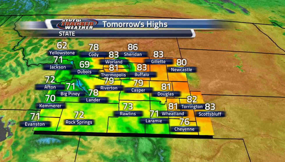 Enjoy the heat now because later in the week, temperatures will begin dropping off fast and...