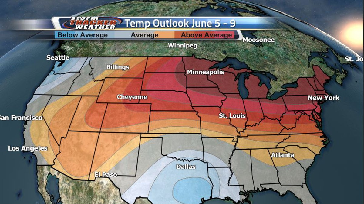 A powerful ridge and high pressure system will be bringing well above average temperatures to...