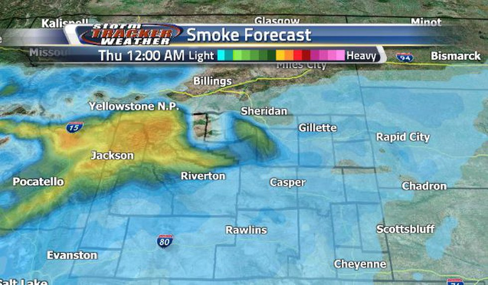 Late Wednesday and Early Thursday, moderately heavy smoke is expected to move back into the...