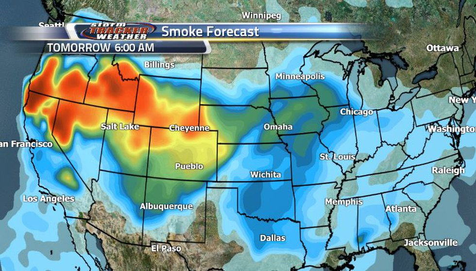 Smoke will be heading south, clearing up the northern border and then settling in the west.