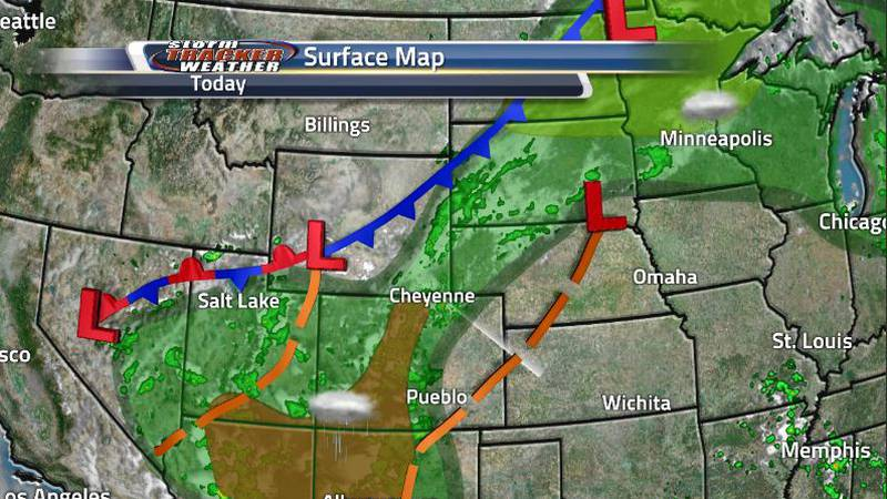 The cold front is beginning to move through our area resulting in showers and storms for the...