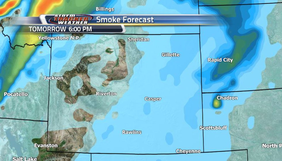 With the help of strong westerly winds over the weekend, we can expect a lot of the heavy smoke...