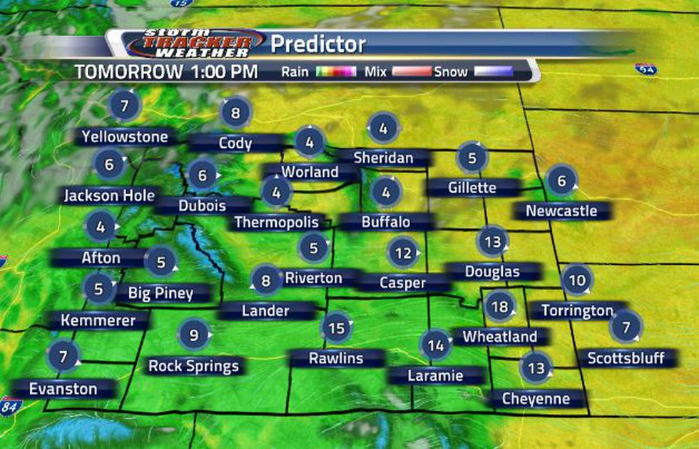 Tomorrow, wind speeds are expected to get breezy.
