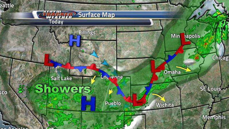 So this cold front turned stationary is trying to turn back into a cold front again. Until it...