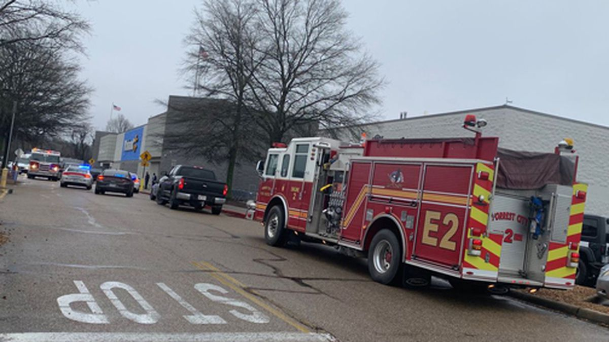 First responders at Walmart in Forrest City, Arkansas. (Source: WMC viewer)
