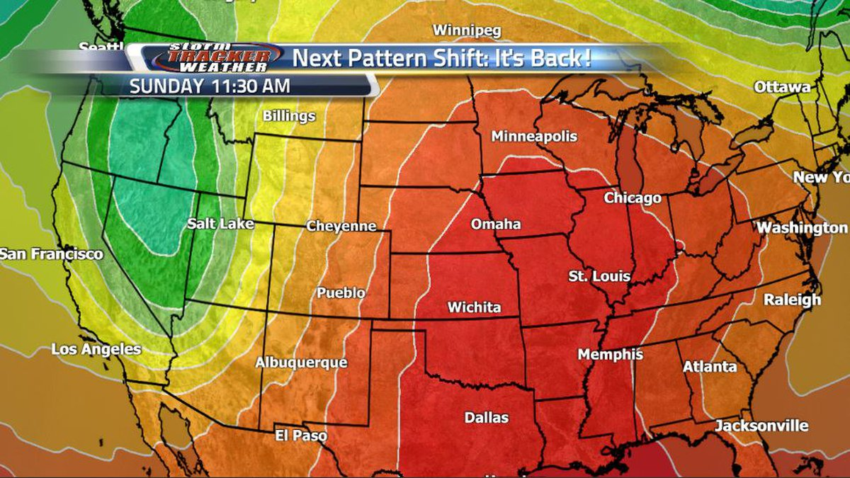 The jet stream will take another dip ahead of the weekend once gain promoting severe weather...
