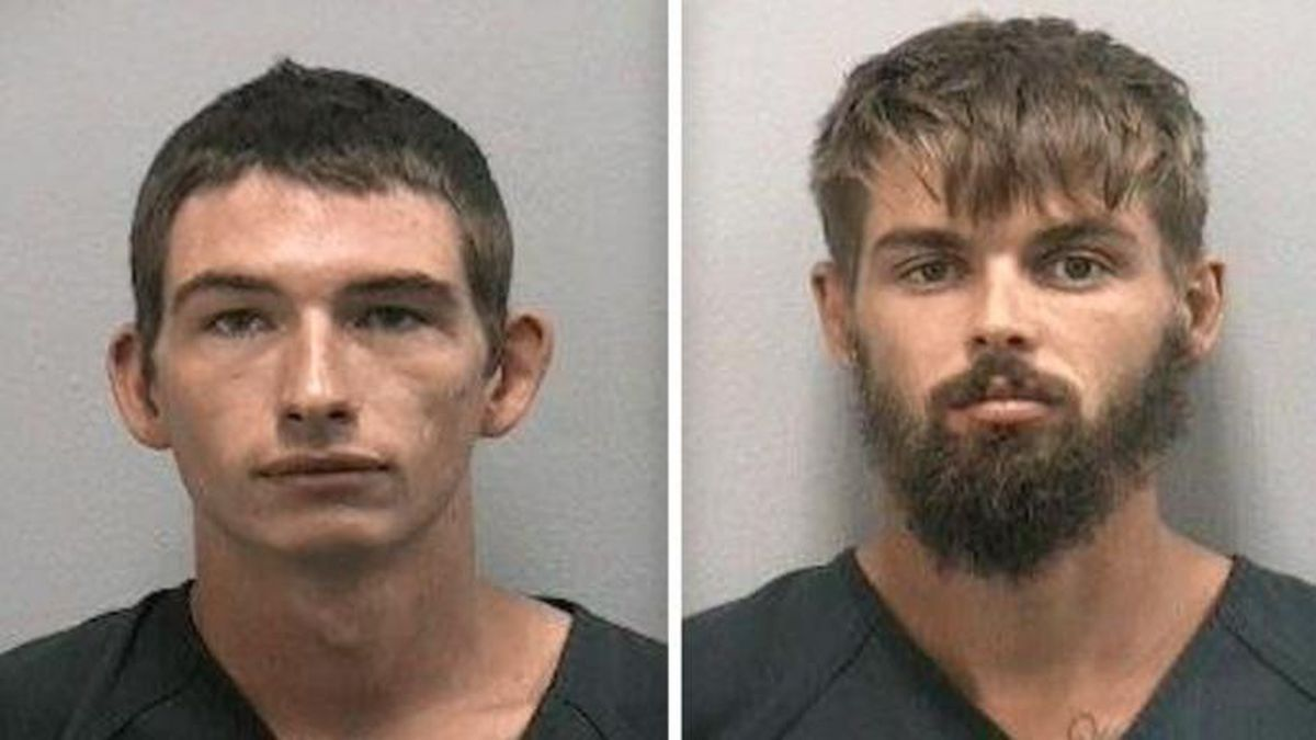 Timothy Kepke and Noah Osborne have been charged after a video allegedly showed them pouring beer down an alligator's throat.