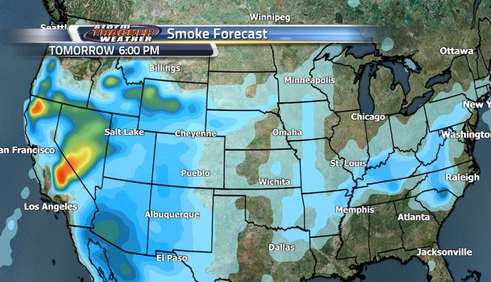 Some more moderate smoke will be trying to sneak back in as much of the region is dominated by...