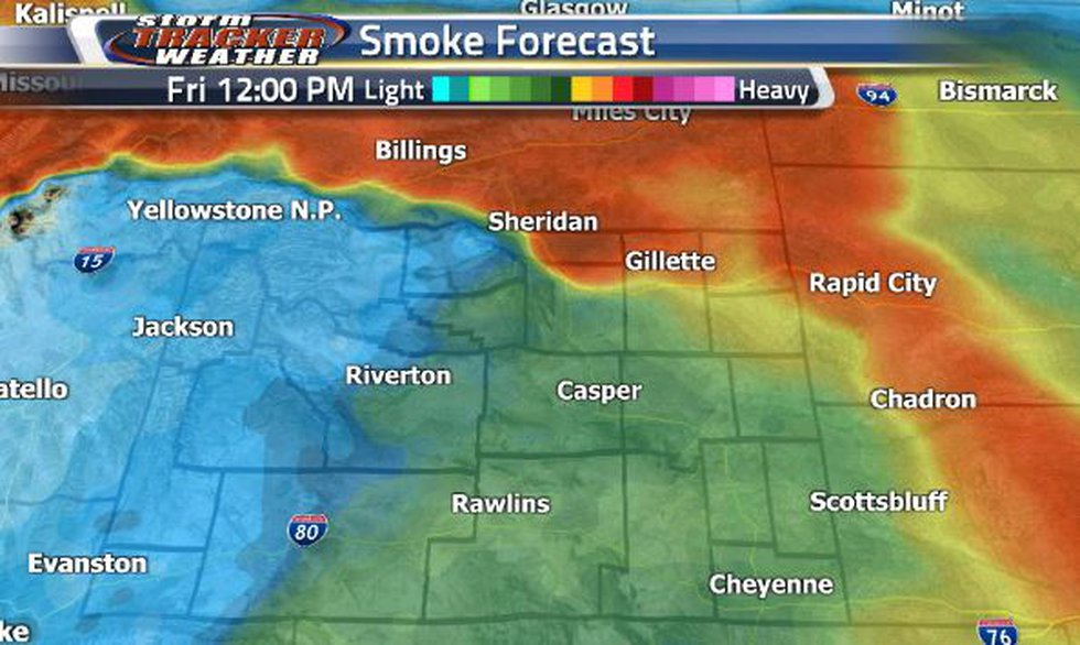 The heavy smoke will continue pushing to the northeastern corner. There will be a heavy pocket...