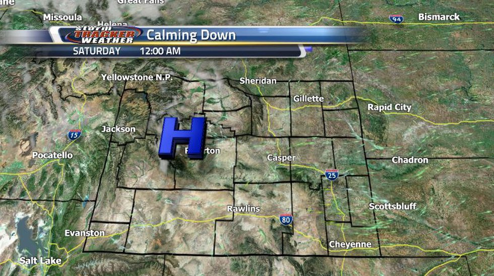 Expect the clouds to clear up and temperatures to begin warming up going into the weekend as...
