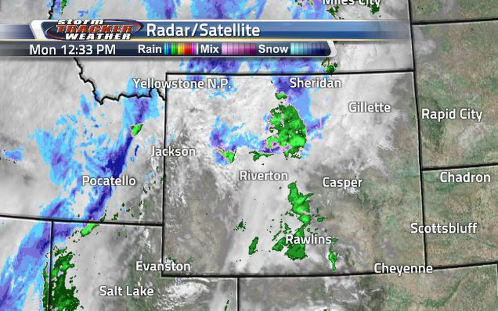 Clouds are pushing in from the southwest with rain and snow hanging on.