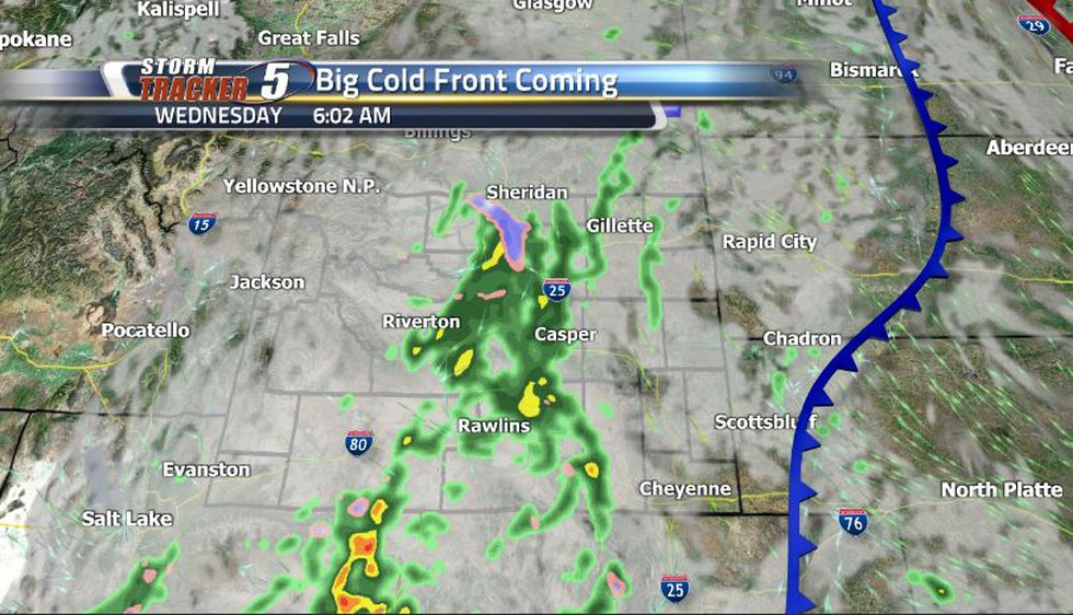 Given how dry it has been lately, we could really use a good soaking. This cold front will help...