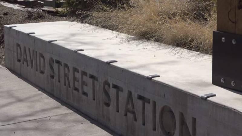 David Street Station sign in Casper, Wyo. on Monday, March 30, 2020.