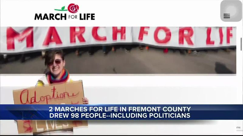 Marches for Life were held in Fremont County on January 23, 2021
