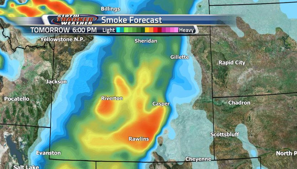 Until the next weather moves through, we can see the wildfire smoke sticking around and...