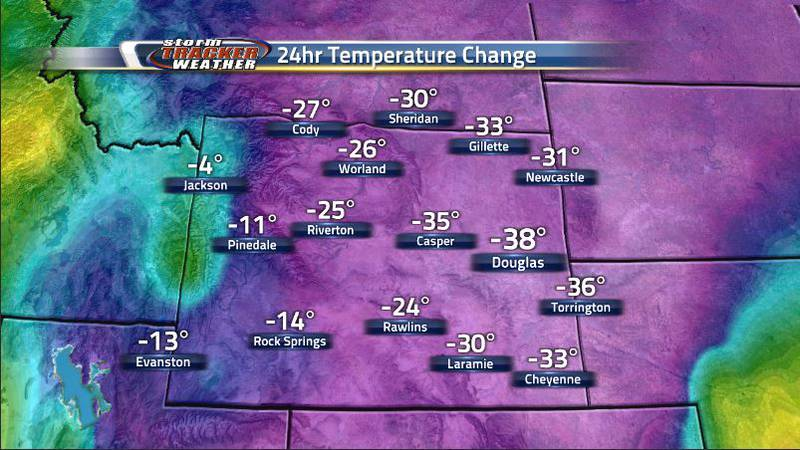 One cold front is all it takes for temperatures to drop by 30 degrees around the state and...