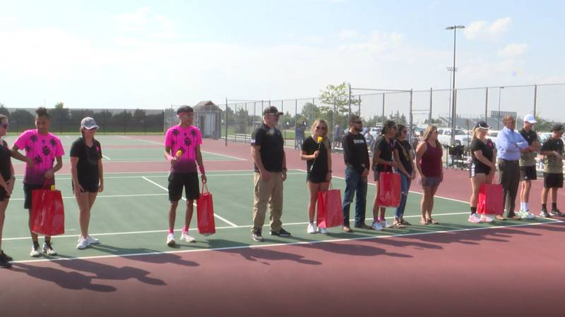 Cheyenne South seniors are honored before Thursday's matches against Thunder Basin. The boys...