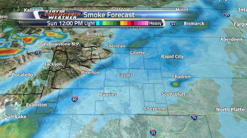 Smoke will be clearing even more heading into the rest of the week. We may see fewer air...