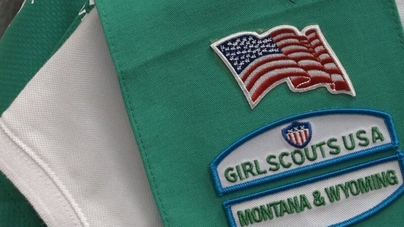 A Girl Scouts of Montana and Wyoming vest at the Casper office.