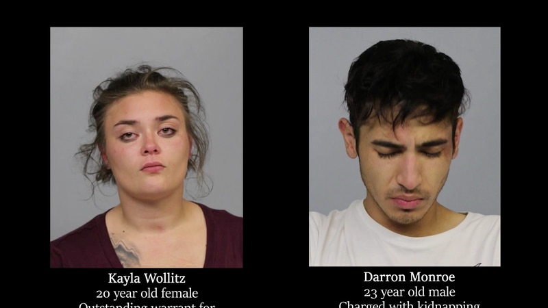 Kayla (left) has a warrant out for her arrest. Darron (right) is in jail.