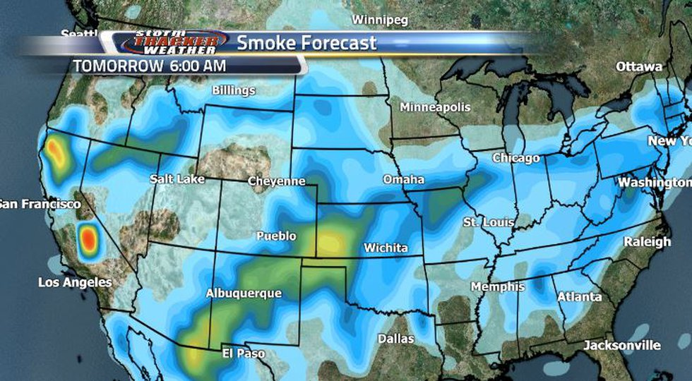 Smoke will be lightening up over the next several days and then settle in a slightly heavier...