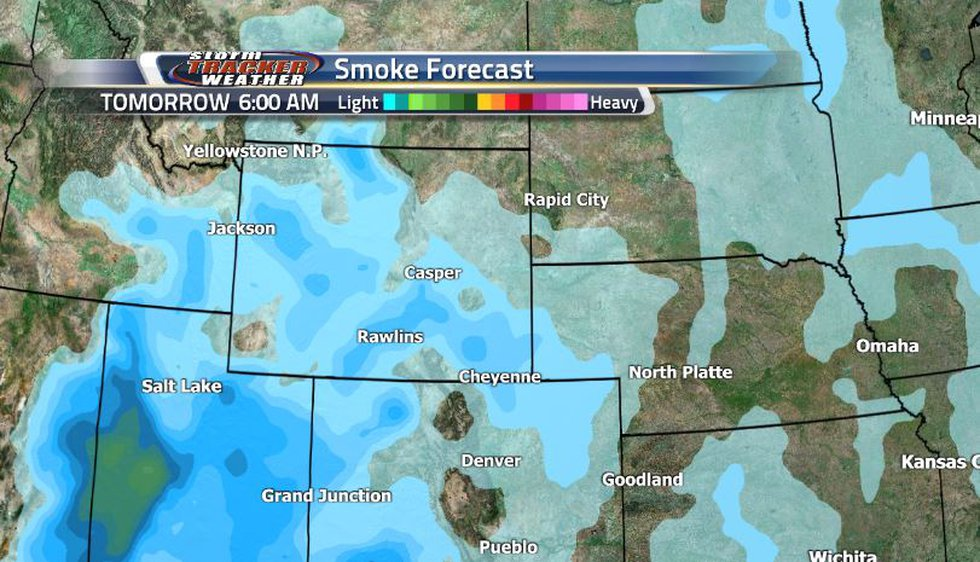As the rain and snow help to clean out the air, the smoke is falling apart. At least until it...
