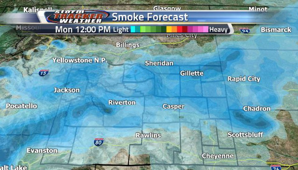 Lighter smoke conditions are in the forecast this week.