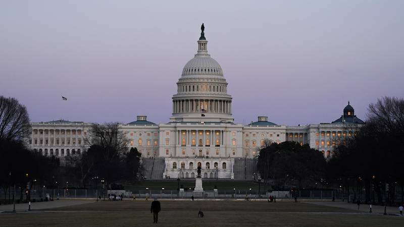 FILE - The U.S. Capitol building is shown after sunset on Thursday, March 4, 2021, in Washington.