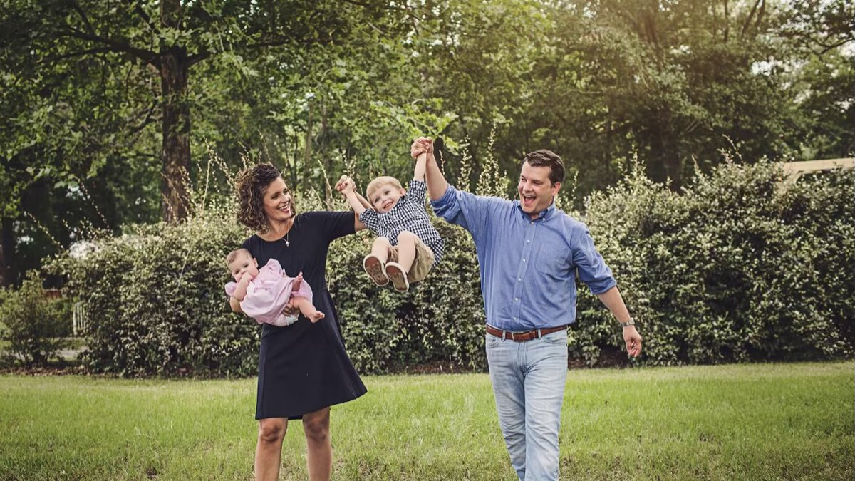 Rep. Julia Letlow with her family and late husband Luke.