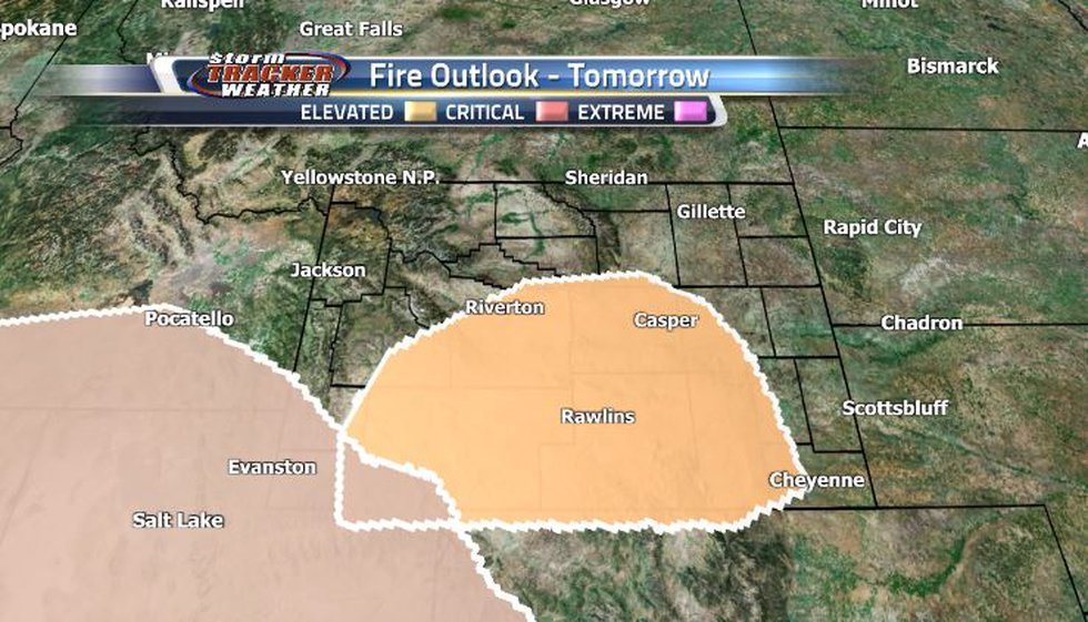 Dry weather over the past few days as well as an increase in gusty winds are fueling our fire...