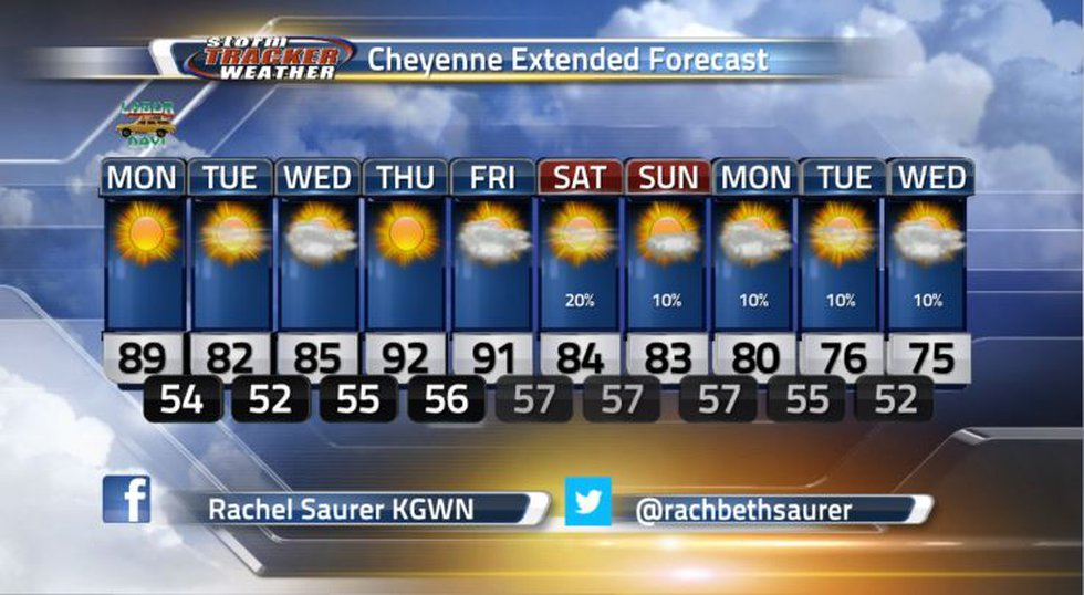 This is the 10-day forecast for Cheyenne.