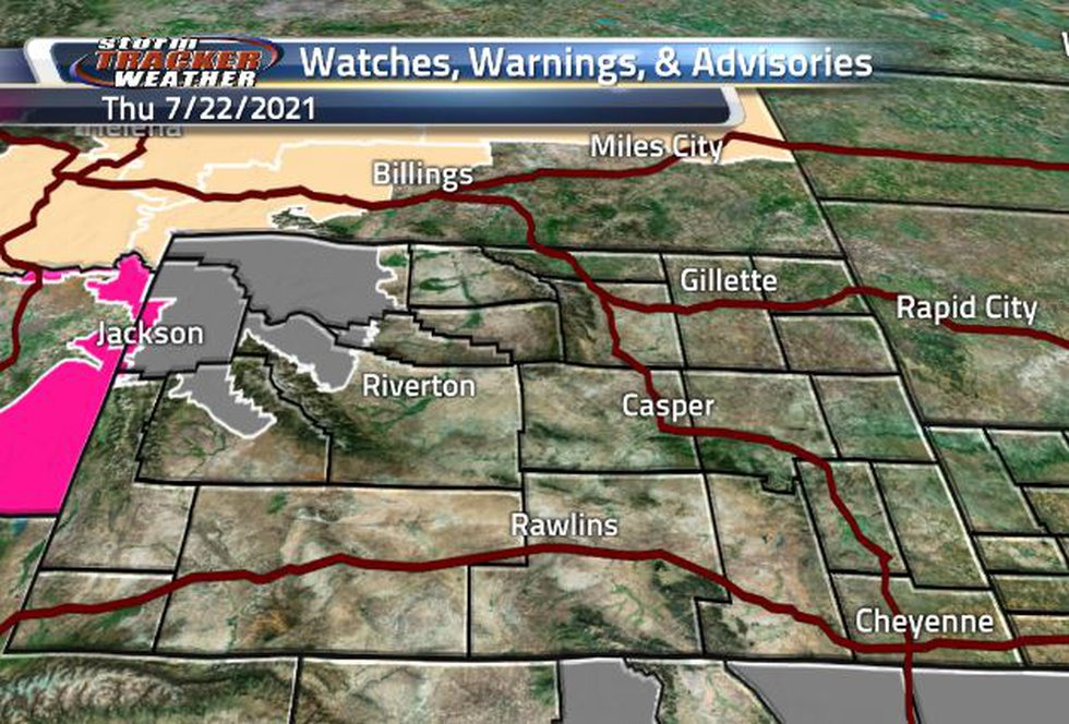 Air Quality and a slight Fire Weather Warnings are back in the state today.