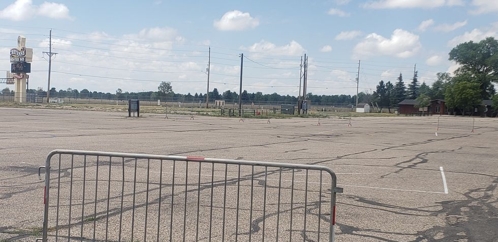 Empty Frontier Days Midway in 2020.